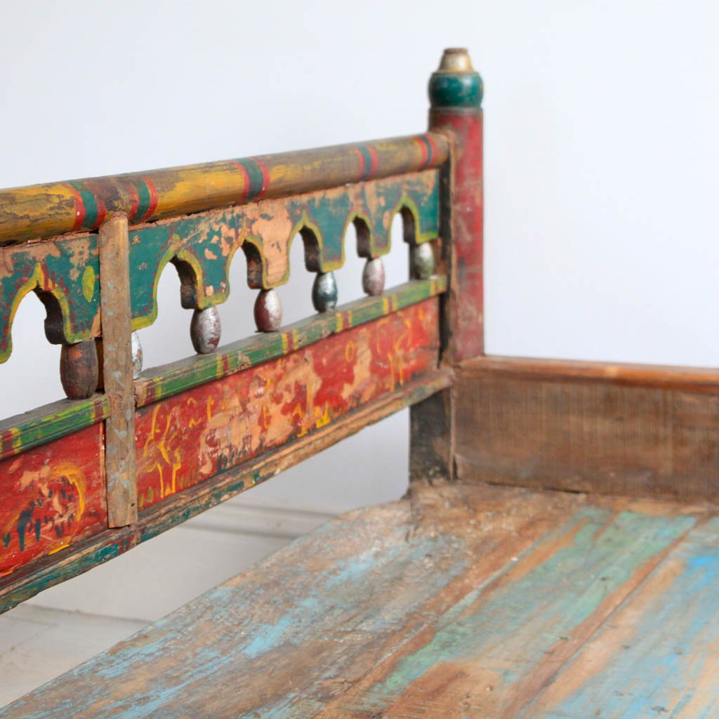 Painted Wooden Bench Kasakosa Home Decor. Full resolution  snapshot, nominally Width 1024 Height 1024 pixels, snapshot with #A0382B.