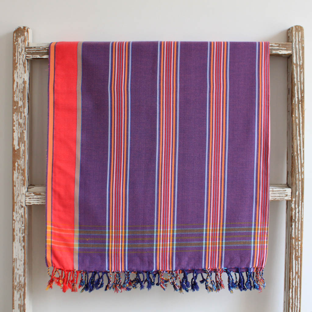 Magenta Home Decoration: Magenta Striped, East African Kikoy