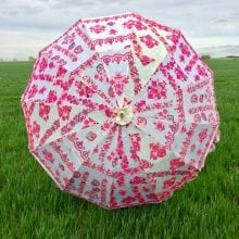 Indian Summer Embroidered Parasol - Elsi