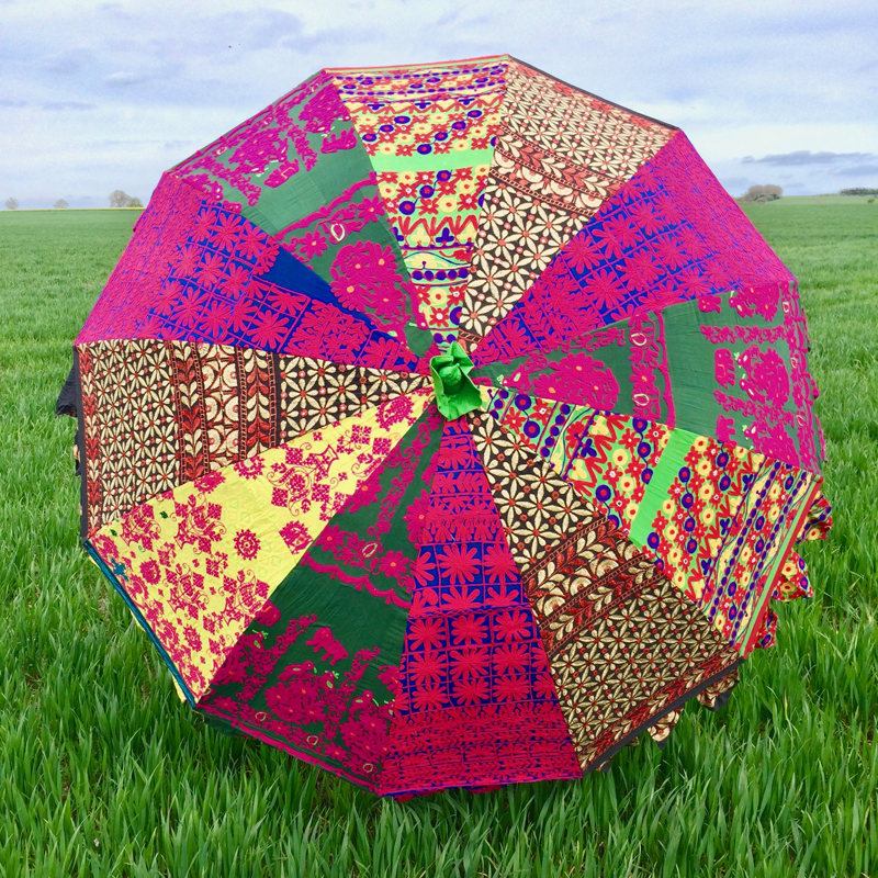Indian Summer Embroidered Parasol – Bahalu