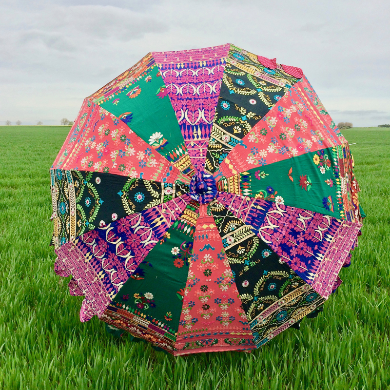Indian Summer Embroidered Parasol – Chunni