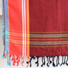 Sunset Red East African Kikoy – 100% cotton