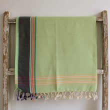 Lime Green East African Kikoy - 100% cotton