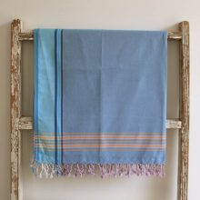 Cool Blue East African Kikoy - 100% cotton