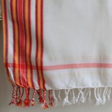Bright White East African Kikoy – 100% cotton