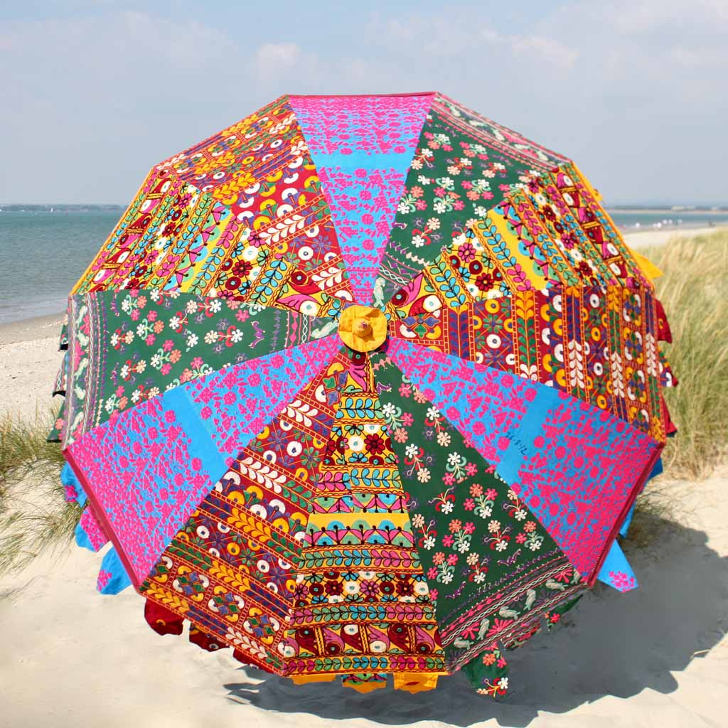 Indian Summer Embroidered Parasol