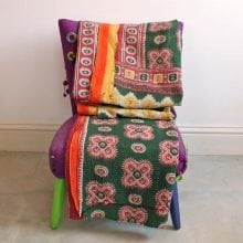 Kantha Quilt - Forest Green