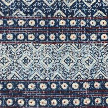 Ajrakh Indigo Double Bed Cover