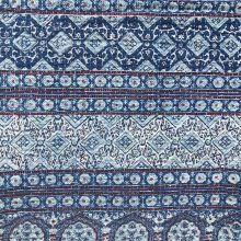 Ajrakh Quilt – Indigo Double Bed Cover