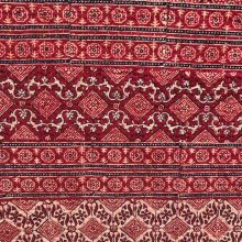 Ajrakh Double Bed Quilt – Burgundy