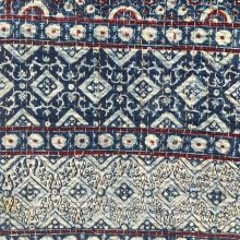 Ajrakh Indigo Single Bed Cover