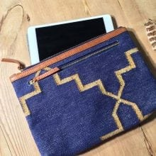 Boho ipad case / tablet cover Blue