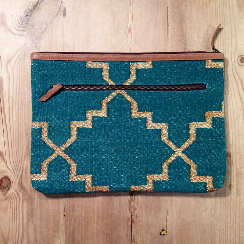 Boho macbook / laptop case – Green