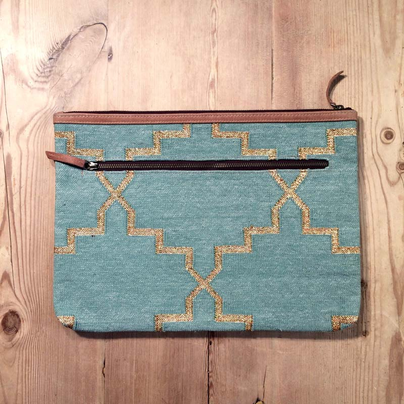 Boho macbook / laptop case – Pastel Green