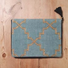Boho macbook case / laptop cover Green