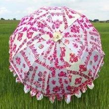 Indian Summer Embroidered Parasol - Charvi