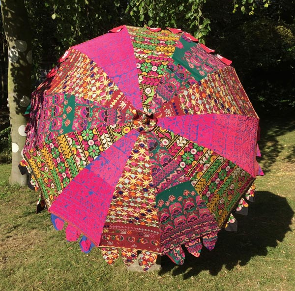 Indian Summer Embroidered Parasol – Govrie