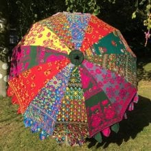 Indian Summer Embroidered Parasol - Inu