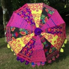 Indian Summer Embroidered Parasol - Gagan