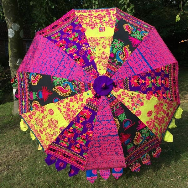 Indian Summer Embroidered Parasol – Gagan