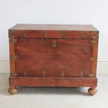 Antique Wooden Dowry Box