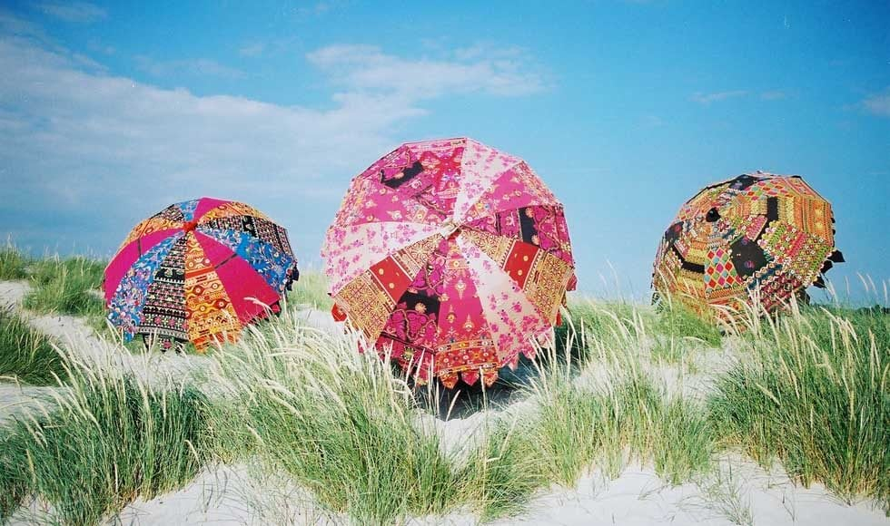 Boho Beach Umbrella - Indian Parasols