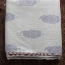 Hand blocked Muslin Dohar – Red floral King Throws