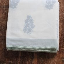 Hand blocked Muslin Dohar – Seven Sisters King Throws
