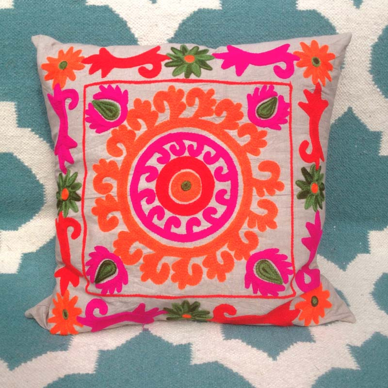 Handmade Suzani Cotton Cushion
