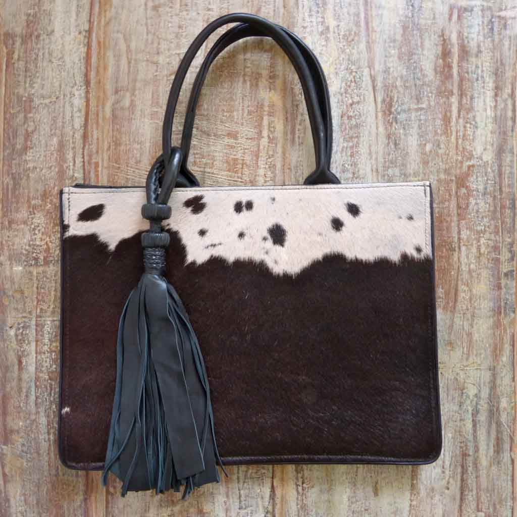 Black cowhide designer handbag (Copy)