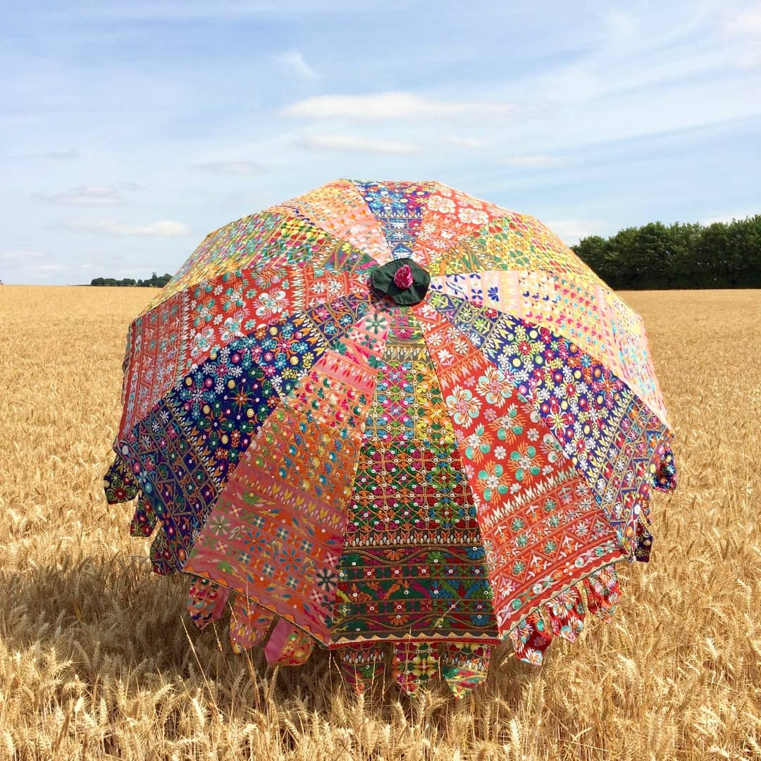 Indian Summer Embroidered Parasol – Gilani