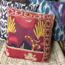Printed Kantha accent Cushion