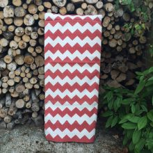 Handwoven Cotton Dhurrie Rug - Red Zag