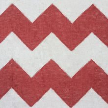 Handwoven Cotton Dhurrie Rug – Red Zag