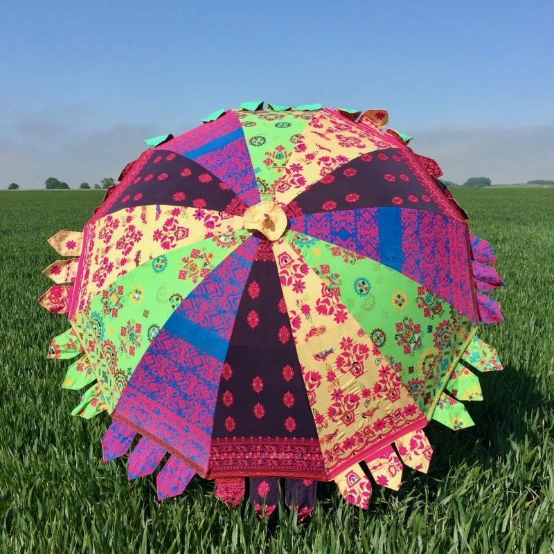 Indian Summer Embroidered Parasol – Bhima