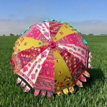 Indian Summer Embroidered Parasol - Gilani