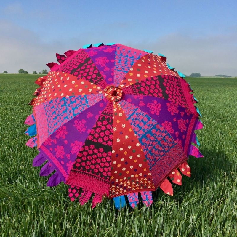 Indian Summer Embroidered Parasol – Bani