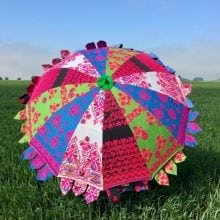 Indian Summer Embroidered Parasol - Charu