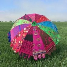 Indian Summer Embroidered Parasol - Izna