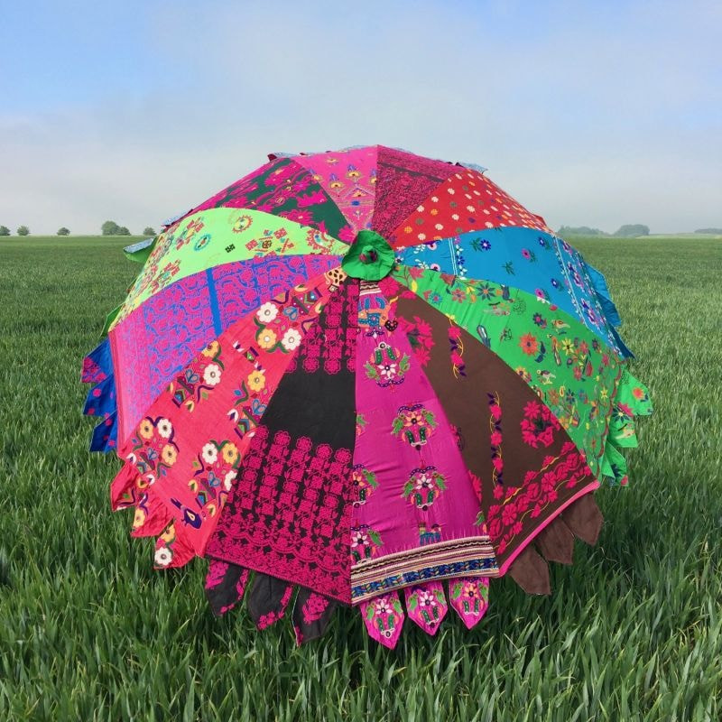 Indian Summer Embroidered Parasol – Izna