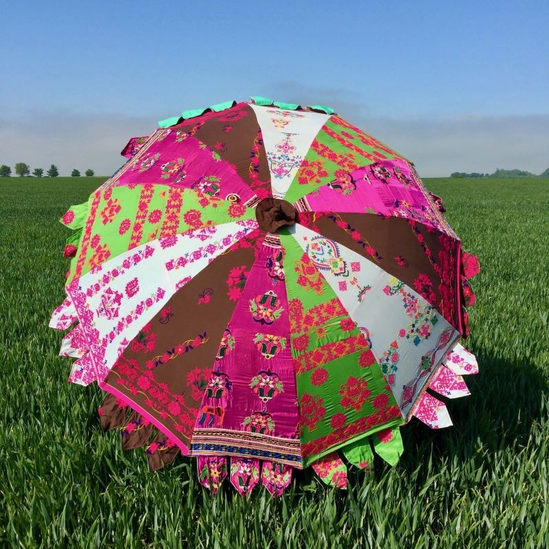Indian Summer Embroidered Parasol – Basma