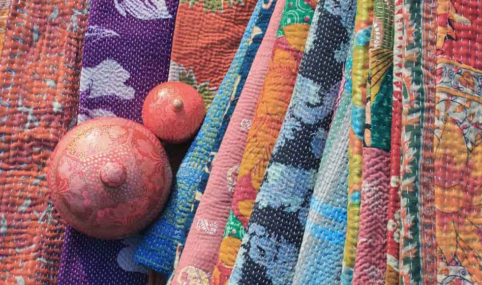 Indian Textiles and home ideas - kantha